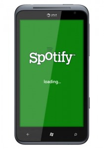 Spotify on Windows Phone Mango