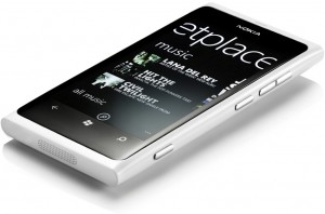 White Nokia Lumia 800