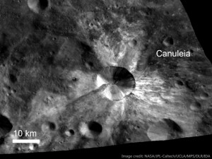 The Canuleia crater on Vesta