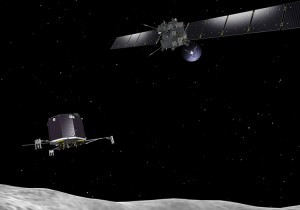 Rosetta orbiter deploying the Philae lander